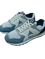 Недорогие -Муж. обувь Полиуретан Зима Осень Удобная обувь Кеды для Повседневные Черный Красный Синий