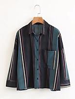 cheap -Women's Cotton Shirt Shirt Collar