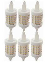 preiswerte -SENCART 6pcs 8W 800lm R7S LED Mais-Birnen T 72 LED-Perlen SMD 4014 Dekorativ Warmes Weiß Weiß 85-265V