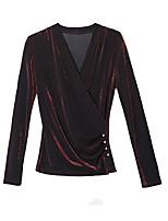 cheap -women's basic plus size blouse v neck