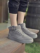 abordables -Homme Chaussures Similicuir Hiver Automne Confort Basket pour Décontracté Noir Gris