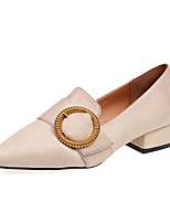 abordables -Femme Chaussures Cachemire Printemps Confort Chaussures à Talons Talon Bas Bout pointu pour Noir Beige