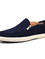Недорогие -Муж. обувь Кожа Замша Нубук Весна Осень Удобная обувь Мокасины и Свитер для Повседневные Темно-синий Зеленый Винный