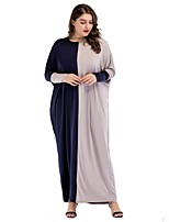 cheap -SHE IN SUN Women's Oversized Loose Dress - Color Block Basic Maxi
