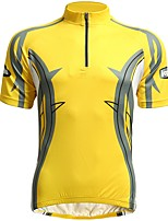 cheap -Jaggad Short Sleeves Cycling Jersey - Yellow Bike