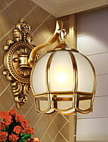 cheap -Traditional/Classic Wall Lamps & Sconces For Living Room Bedroom Metal Wall Light 220-240V 40W