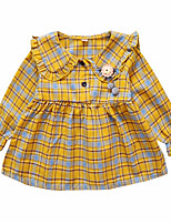 cheap -Girl's Daily Print Dress, Polyester Spring Long Sleeves Vintage Green Red Yellow