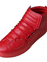 preiswerte -Herrn Schuhe PU Frühling Herbst Leuchtende Sohlen Sneakers für Normal Weiß Schwarz Rot