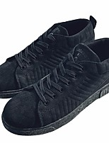cheap -Men's Shoes Patent Leather Spring Fall Comfort Sneakers for Casual Black