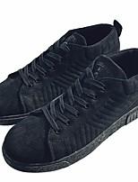 preiswerte -Herrn Schuhe Lackleder Frühling Herbst Komfort Sneakers für Normal Schwarz