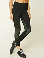 cheap -Women's Sporty Legging - Mesh, Solid Colored Mid Waist