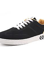 baratos -Homens sapatos Couro Ecológico Tecido Primavera Outono Conforto Tênis para Casual Preto e Dourado Branco/Preto Preto/Vermelho