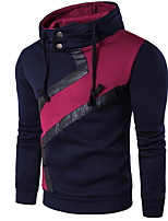 cheap -Men's Hoodie - Color Block, Print
