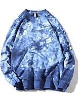 cheap -Men's Loose Sweatshirt - Geometric Round Neck