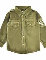 abordables -Costume & Blazer Garçon Quotidien Vacances Couleur Pleine Coton Polyester Printemps Automne Manches Longues simple Vert Véronèse