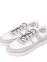baratos -Homens sapatos Tecido Primavera Outono Conforto Tênis para Casual Branco Preto