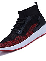 cheap -Men's Shoes Tulle Net Spring Summer Light Soles Comfort Sneakers for Casual Outdoor Black Black/Red Dark Green