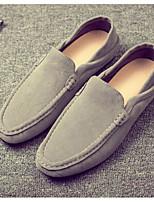 Недорогие -Муж. обувь Полиуретан Весна Осень Удобная обувь Мокасины и Свитер для Повседневные Черный Серый Синий