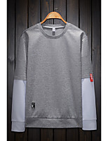 cheap -Men's Sweatshirt - Color Block, Print