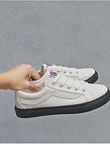 Недорогие -Муж. обувь Полотно Весна Осень Удобная обувь Кеды для Повседневные Белый
