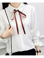 cheap -Women's Blouse - Solid Shirt Collar