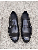 Недорогие -Муж. обувь Кожа Наппа Leather Весна Осень Удобная обувь Мокасины и Свитер Башмаки и босоножки для Повседневные Черный Кофейный