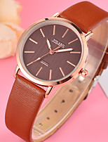 cheap -Women's Fashion Watch Quartz Casual Watch Leather Band Analog Fashion Minimalist Black / White / Blue - Rose Red Pink