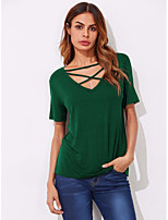 cheap -Women's Flare Sleeve T-shirt - Solid
