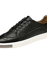 Недорогие -Муж. обувь Кожа Весна Лето Удобная обувь Кеды Для прогулок для Повседневные на открытом воздухе Белый Черный Темно-синий
