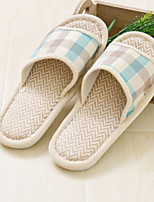 cheap -Stripes/Ripples Ordinary Slippers Men's Slippers Polyester Linen solid color
