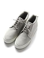 Недорогие -Муж. обувь Ткань Весна Осень Удобная обувь Кеды для Повседневные Черный Серый