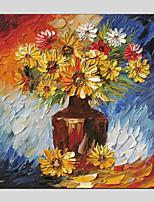 baratos -Pintura a Óleo Pintados à mão Floral/Botânico Quadrada, Modern Decoração para casa 1 Painel