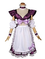 cheap -Inspired by Macross Frontier Cosplay Anime Cosplay Costumes Cosplay Suits Other Short Sleeves Skirt Apron Bow More Accessories For Men's