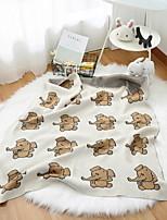 baratos -Tricotado, Impressão Reactiva Desenho Animado Algodão cobertores