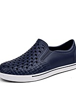 cheap -Men's Shoes Synthetic Microfiber PU Summer Light Soles Loafers & Slip-Ons Side-Draped for Casual Black Gray Blue
