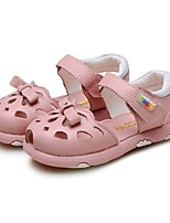 cheap -Girls' Shoes Nappa Leather Summer Comfort Sandals Magic Tape for Casual Dress White Pink