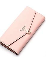Недорогие -Жен. Мешки PU Бумажники Сплошной цвет Синий / Розовый