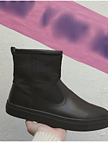 cheap -Men's Shoes Cowhide Winter Snow Boots Boots Booties/Ankle Boots for Casual Black