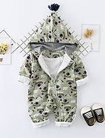 cheap -Baby Unisex Daily Solid Print One-Pieces, Cotton Spring Summer Cute Active Half Sleeves Green Blushing Pink