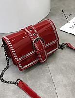 cheap -Women's Bags PU Shoulder Bag Zipper for Casual Red / Brown / Dark Brown