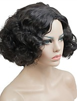 cheap -Synthetic Hair Wigs Curly Natural Hairline Machine Made Celebrity Wig Natural Wigs Cosplay Wig Short Black