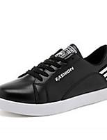 Недорогие -Муж. обувь Ткань Весна Осень Удобная обувь Кеды для Повседневные на открытом воздухе Белый Черный Красный