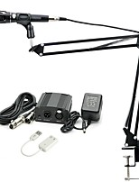Недорогие -KEBTYVOR E-300 Проводное 3,5 мм Микрофон Микрофон студийный микрофон Настольный кронштейн для микрофона Конденсаторный микрофон Ручной
