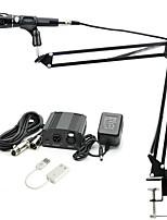 baratos -KEBTYVOR E-300 Com Fio 3.5mm Microfone Microfone microfone do estúdio Braço de Mesa para Microfone Microfone Condensador Microfone