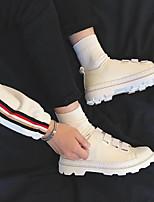 abordables -Homme Chaussures Similicuir Printemps Automne Confort Basket pour Décontracté Noir Beige Rouge