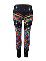 cheap -Women's Basic Sporty Legging - Print, Color Block Mid Waist