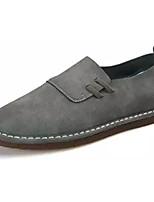 Недорогие -Муж. обувь Нубук Весна Осень Удобная обувь Мокасины и Свитер для Повседневные Серый Кофейный Коричневый