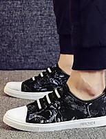 Недорогие -Муж. обувь Ткань Лето Удобная обувь Кеды для Повседневные Красный Черно-белый