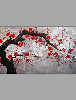 cheap -Hand-Painted Landscape Floral/Botanical Horizontal, Comtemporary Modern Canvas Oil Painting Home Decoration One Panel