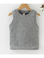 cheap -Girls' Daily Solid Tank & Cami, Polyester Spring Sleeveless Simple Gray
